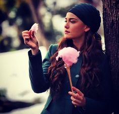 cute, food, girl, pink, style, fahriye evcen