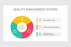 Quality Management System PowerPoint Diagram Color Themes, Management, Diagram, Templates, Stencils, Vorlage, Models
