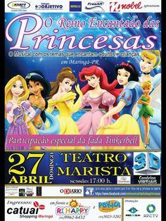 27/04 ♥ O Reino Encantado das Princesas ♥ Teatro Marista ♥ Maringá ♥ PR ♥  http://paulabarrozo.blogspot.com.br/2014/04/2704-o-reino-encantado-das-princesas.html