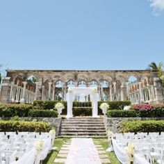 One And Only Ocean Club In The Bahamas Provided A Destination Ceremony Location For This Celebration