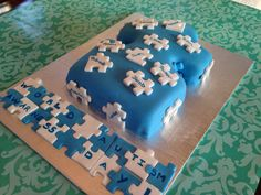 """All ready to go for """" World Autism Awareness Day """" Cakes for Autism Fundraiser Puzzle Party, World Autism Awareness Day, Autism Support, Gotcha Day, Autism Speaks, Fancy Cakes, Cream Cheese Frosting, Puzzle Pieces, Cake Ideas"""