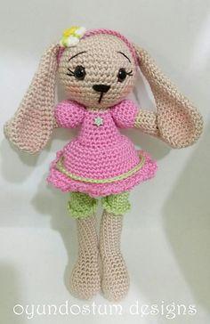 amigurumi sugar bunny by Nalan Babal (oyundostum)