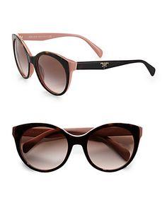 #Prada Oversized Cat's-Eye Sunglasses