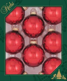 "The Jolly Christmas Shop - Krebs 2 5/8"" Christmas Red Glass Ball Ornament 70159, $8.99 (http://www.thejollychristmasshop.com/krebs-2-5-8-christmas-red-glass-ball-ornament-70159/?page_context=category"