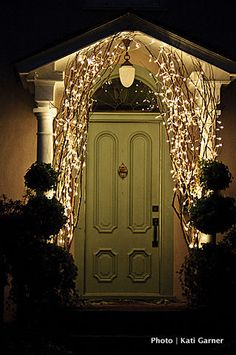 Using branches w/ lights by the front door for Christmas time – beautiful! Using branches w/ lights by the front door for Christmas time – beautiful! Primitive Christmas, Noel Christmas, Winter Christmas, All Things Christmas, Christmas Porch, Outdoor Christmas, Christmas Branches, Front Door Christmas Decorations, Christmas Lights Outside