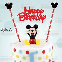Mickey Minnie Mouse Cake Topper Set for Kids Happy Birthday Party Decoration Supplies Favor Baby Shower Party Cake Decoration(China (Mainland))