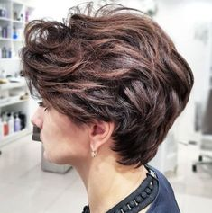 Long Feathered Pixie for Thick Hair Thick Coarse Hair, Pixie Haircut For Thick Hair, Short Hairstyles For Thick Hair, Short Pixie Haircuts, Short Hair With Layers, Short Hair Cuts For Women, Curly Hair Styles, Messy Pixie, Short Wavy