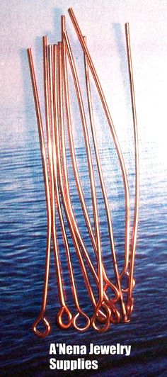 30 Head Pins O Head Genuine Copper l to Make by ANenaJewelry, $5.00