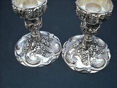 Vintage Silver Plated Godinger Candle Holders #Godinger