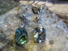 New Zealand Paua Shell Abalone and Flower by TheHiddenMeadow