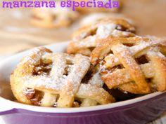 Galletas de tarta de manzana especiada