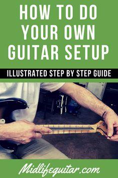 guitar building How To Do Your Own Guitar Setup - Step By Step Guide Learn Guitar Chords, Guitar Chords Beginner, Guitar Diy, Guitar Songs, Acoustic Guitar, Ukulele, Guitar Strumming, Guitar Shop, Box Guitar