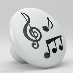 Music-Notes-Ceramic-Knobs-Pulls-Kitchen-Drawer-Dresser-Cabinet-969-Cupboard