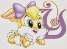Alfabeto de Lola Bunny bebé. | Oh my Alfabetos!