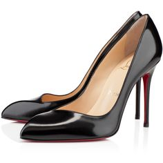 Christian Louboutin Corneille (2.620 BRL) ❤ liked on Polyvore featuring shoes, pumps, christian louboutin, heels, louboutin, black, leather shoes, kohl shoes, black leather pumps and black pumps