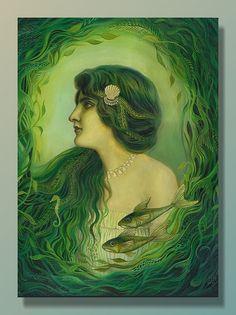 The Nereid - Art Nouveau Mermaid Goddess...