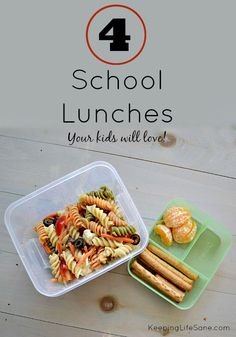 Easy School Lunches your Kids will LOVE - Keeping Life Sane