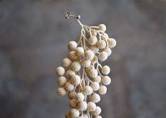 Crochet  木の実のピアス 藤田美帆