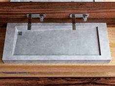 Vasque à poser double en béton SLANT 03 DOUBLE by Gravelli design Tomáš Vacek