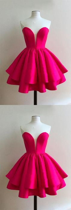 Cute Sweetheart Sleeveless Homecoming Dresses Short Cocktail Dresse on Luulla Short Red Prom Dresses, Cute Homecoming Dresses, Hoco Dresses, Prom Dresses Online, Cheap Prom Dresses, Dress Prom, Pink Dresses, Sequin Dress, Party Dresses