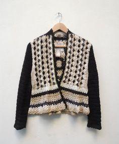 María Cielo: Nuevos sacos crochet de Paula y Agustina Ricci