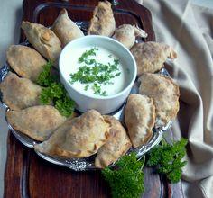 zdrowy obiad: pieczone pierogi z kaszą gryczaną