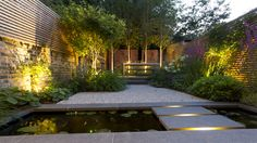 John Davies Landscape is privileged to have been involved with the comprehensive updating of this wonderful Georgian terraced house in Greenwich. The garden was very overgrown and our brief was to create an open space where our client could dine as well a Modern Landscape Design, Modern Garden Design, Contemporary Garden, Modern Landscaping, Backyard Landscaping, Landscape Concept, Small Gardens, Outdoor Gardens, Modern Gardens