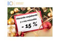 Joulukalenteri 8. luukku | Hieronta Leppävaara | Hieronta IO-Klinikka