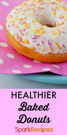 Faux (Baked) Healthy Donuts. These look SO good!! | via @SparkPeople #donuts #breakfast #baking #healthy #recipe