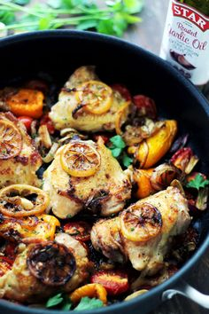 One Pot Lemon Garlic Chicken and Veggies #STARFineFoods