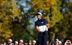 Rickie Fowler Photos Photos - Rickie Fowler of the United States plays his shot from the 17th tee during singles matches of the 2016 Ryder Cup at Hazeltine National Golf Club on October 2, 2016 in Chaska, Minnesota. - 2016 Ryder Cup - Singles Matches