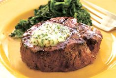 Filet Mignon with Compound Butter