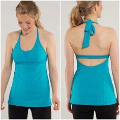 Lululemon 'Dignity' Halter Tank Lululemon 'Dignity' Halter Tank. -Size 4. -Built in Bra. -Excellent condition.  NO Trades. Please make all offers through offer button. lululemon athletica Tops Tank Tops