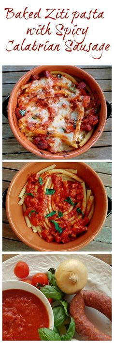 Baked Ziti (or Zitoni) pasta with spicy sausage, sometimes also called 'alla diavola' (devilled), is a great dish for those who love spicy food. Pasta prepared in this way is really tasty and attractive and this recipe is simple and fast to make. #pasta #bakedpasta #ziti