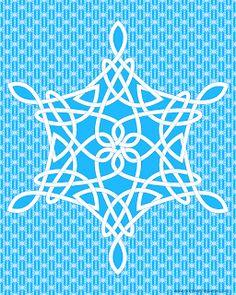 Knotwork snowflake