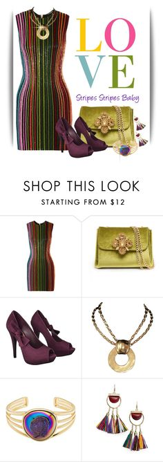 """""""~stripes 1~"""" by confusgrk ❤ liked on Polyvore featuring Balmain, Bebe, Xhilaration, Robert Lee Morris, MANGO and AmiciMei"""