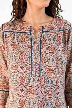 Neck Designs to Try with Plain Kurtis - Indian Fashion Ideas Simple Kurta Designs, New Kurti Designs, Churidar Designs, Kurta Designs Women, Kurti Designs Party Wear, Short Kurti Designs, Neck Designs For Suits, Neckline Designs, Sleeves Designs For Dresses