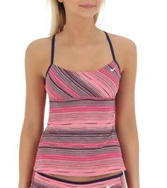 Nike Swim Womens Broken Motion Racerback Tankini  - Free Shipping