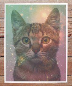 Galaxy Cat Print