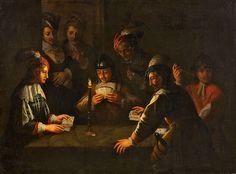 Wolfgang Heimbach (follower) Kartenspieler bei Kerzenlicht