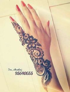 Simple Arabic Mehndi Designs, Henna Art Designs, Mehndi Designs For Girls, Mehndi Designs For Beginners, Modern Mehndi Designs, Mehndi Design Pictures, Unique Mehndi Designs, Beautiful Mehndi Design, Latest Mehndi Designs