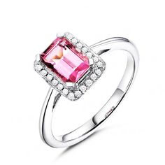 Stunning 1.17ct Natural Pink Tourmaline in 18K Gold Ring by CHARMES Jewellery Check more at https://www.charmes.in/product/1-17ct-natural-pink-tourmaline-in-18k-gold-ring/