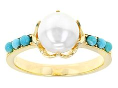 Tehya Oyama™ Cultured Freshwater Pearl and Sleeping Beauty Turquois