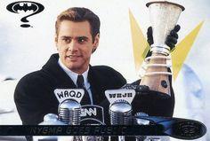 RARE 1995 FLEER ULTRA BATMAN MOVIE JIM CARREY NYGMA GOES PUBLIC MINT