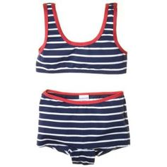 Classic Stripe Two Piece Bathing Suit