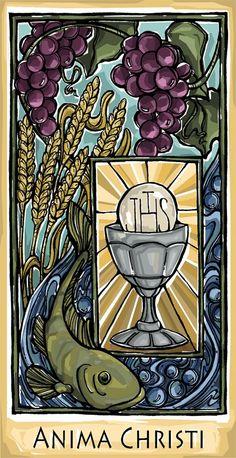 Communion Prayer Holy Card with wheat as a main symbol. Catholic Doctrine, Catholic Religion, Catholic Art, Catholic Saints, Religious Art, Christianity, Communion Prayer, First Holy Communion, Vintage Holy Cards