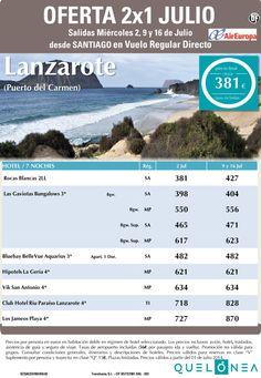 Oferta 2x1 Julio a Lanzarote -Pto del Carmen- desde 381€ Tax incl. Salidas desde SCQ ultimo minuto - http://zocotours.com/oferta-2x1-julio-a-lanzarote-pto-del-carmen-desde-381e-tax-incl-salidas-desde-scq-ultimo-minuto/