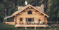 Rustic log cabins remind me of my childhood, where I had the fortune of spending lots of time, in our family's log cabin on a secluded lake, accessible only by four wheel drive vehicle.  This