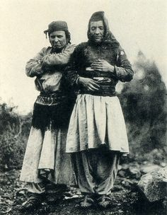 A Sworn Virgin in Mirdita with her friend (Photo: Carleton Coon 1929).
