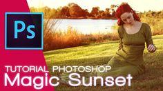 In questo video tutorial vedrete come creare i colori di un tramonto magico. Enfatizzeremo i colori pendoli più dorati e solari.  Il processo di lavoro per questa correzione colore è molto semplice anche per chi ha da poco sta apprendendo un corso base di photoshop.